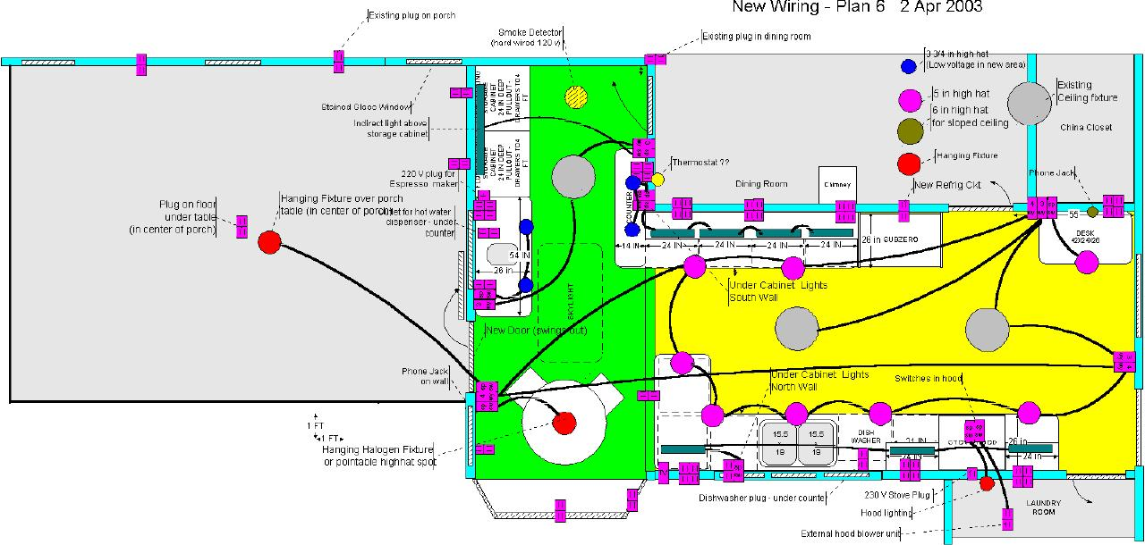Latest Kitchen Designs: Wiring Layout For Kitchen At Diziabc.com